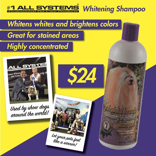 #1 All Systems Professional Formula Whitening/Brightening Pet Shampoo