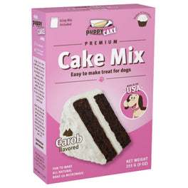 'FREE GIFT' + 10% OFF : Puppy Cake Carob Microwaveable Cake Mix For Dogs 255g (Exp 15 Aug 19)