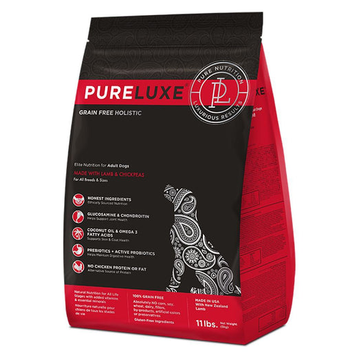 PureLuxe Grain Free Holistic Elite Nutrition for Adult Dogs Lamb & Chickpeas Formula Dry Dog Food - Kohepets