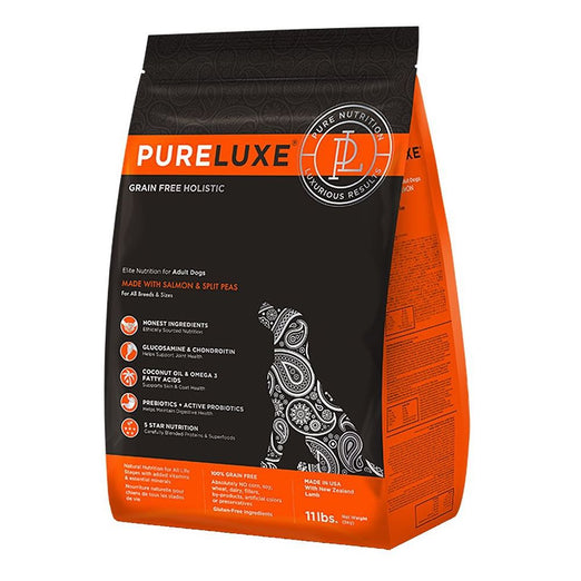 PureLuxe Grain Free Holistic Elite Nutrition for Adult Dogs Salmon & Split Peas Formula Dry Dog Food
