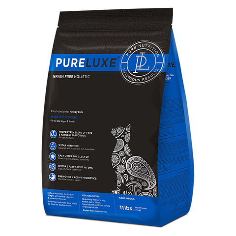 40% OFF (Exp Oct 19): PureLuxe Grain Free Holistic Elite Nutrition for Finicky Cats Dry Cat Food