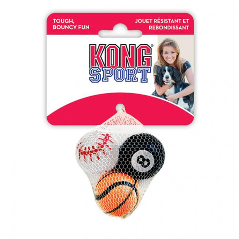 Kong 3-Pack Sport Balls Dog Toy Extra Small - Kohepets