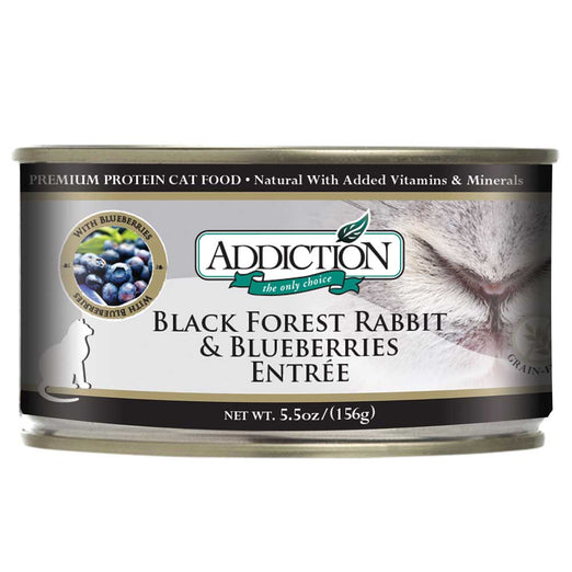 Addiction Black Forest Rabbit & Blueberries Canned Cat Food 156g
