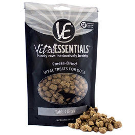 25% OFF: Vital Essentials Freeze-Dried Rabbit Bites Vital Dog Treats 2oz