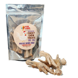 Raw Rawr Chicky Chew Chicken Feet Freeze Dried Cat & Dog Treats 80g