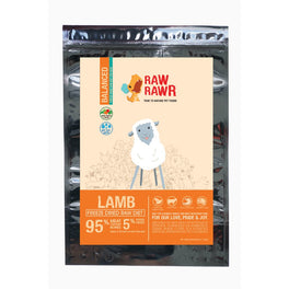 $11 OFF 400g (Exp 31 Dec 19) : Raw Rawr Lamb Balanced Diet Freeze Dried Dog Food
