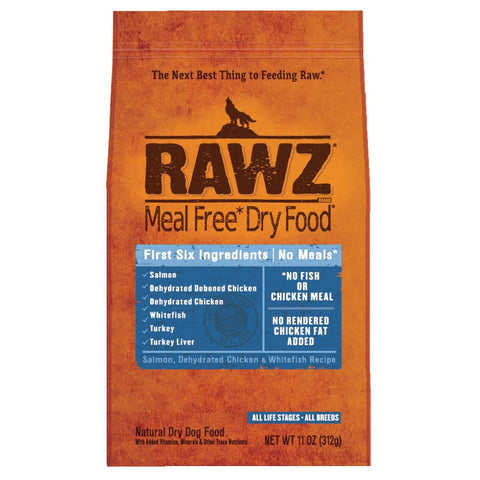 RAWZ Meal Free Salmon, Dehydrated Chicken & Whitefish Recipe Dry Dog Food