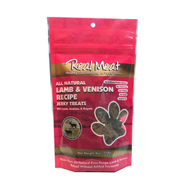 Real Meat All-Natural Lamb & Venison Recipe Jerky Dog Treats 4oz