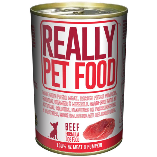 Really Pet Food Beef Canned Dog Food 375g - Kohepets