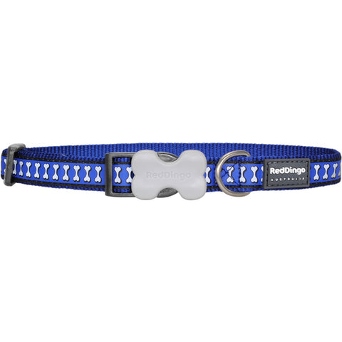 Red Dingo Reflective Dog Collar - Medium - Kohepets