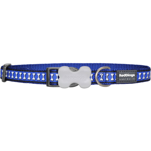 Red Dingo Reflective Dog Collar - Medium