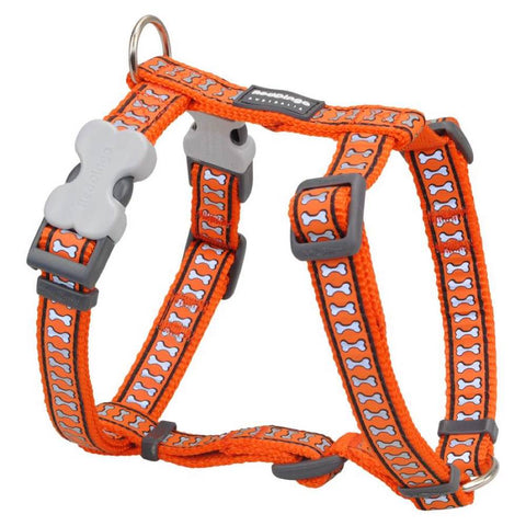 Red Dingo Reflective Dog Harness - Medium
