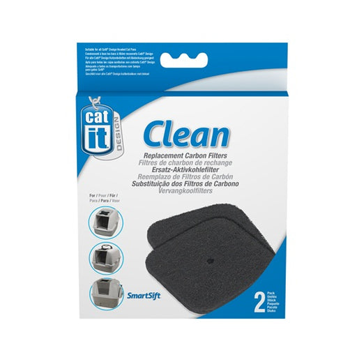 Catit Clean Replacement Carbon Filters For Hooded Litter Box
