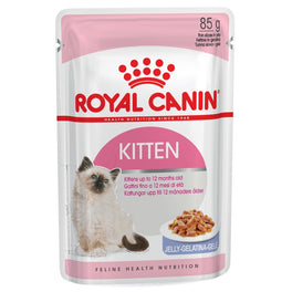Royal Canin Feline Health Nutrition Kitten in Jelly Pouch Cat Food 85g