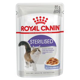 Royal Canin Feline Health Nutrition Sterilised in Jelly Pouch Cat Food 85g