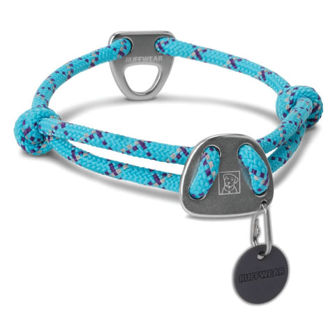 Ruffwear Knot-a-Collar Reflective Adjustable Rope Dog Collar (Blue Atoll) - Kohepets