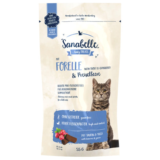 2 FOR $10: Sanabelle Trout & Cranberry Cat Sticks 55g
