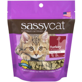 Sassy Cat Turkey, Sweet Potato & Ginger Freeze-Dried Cat Treats 35g