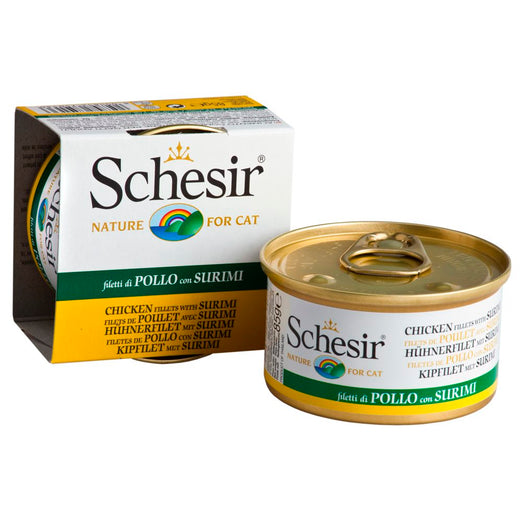 Schesir Chicken Fillet with Surimi in Jelly Canned Cat Food 85g