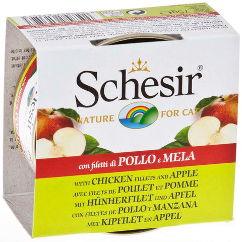 Schesir Chicken Fillets and Apple Fruit Dinner Canned Cat Food 75g
