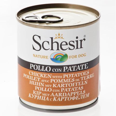 Schesir Chicken with Potatoes Canned Dog Food 285g