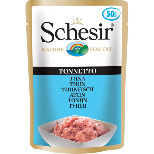 Schesir Tuna Pouch Cat Food 50g x 12 - Kohepets