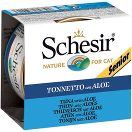Schesir Tuna With Aloe Senior Canned Cat Food 85g