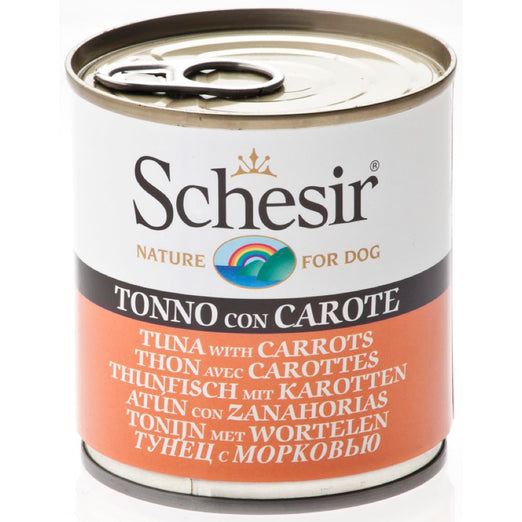 Schesir Tuna with Carrots Canned Dog Food 285g
