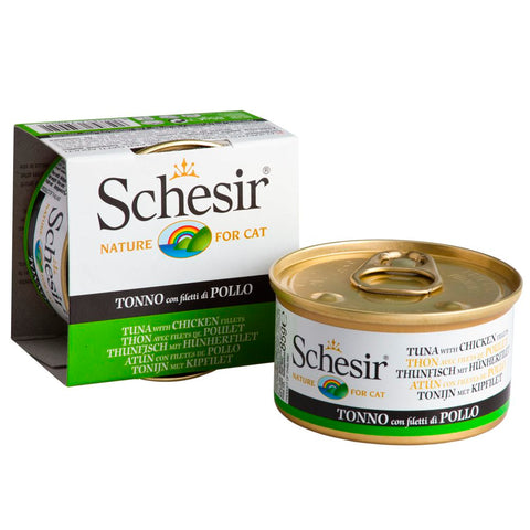 Schesir Tuna with Chicken Fillet in Jelly Canned Cat Food 85g - Kohepets