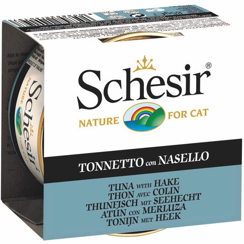 Schesir Tuna with Hake in Jelly Canned Cat Food 85g - Kohepets