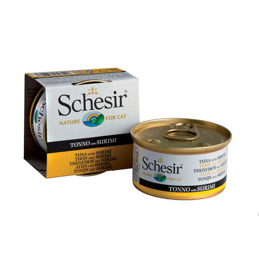 Schesir Tuna with Surimi in Jelly Canned Cat Food 85g
