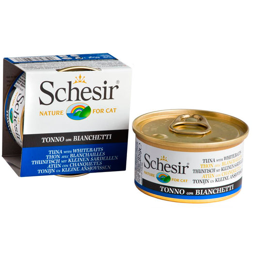 Schesir Tuna with Whitebait in Jelly Canned Cat Food 85g
