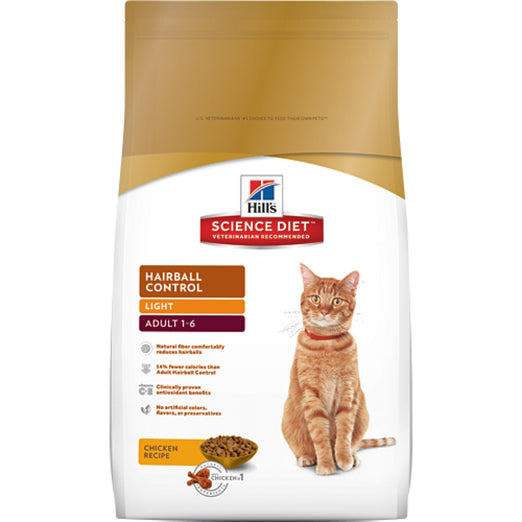 Science Diet Adult Hairball Control Light Dry Cat Food 3.5lb - Kohepets