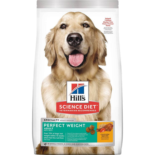 Science Diet Adult Perfect Weight Chicken Dry Dog Food 28.5lb - Kohepets