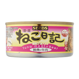 23% OFF: Seeds Miao Miao Tuna & Beef Canned Cat Food 170g