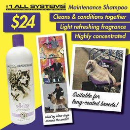 #1 All Systems Self-Rinse Conditioning Pet Shampoo & Coat Refresher 16oz