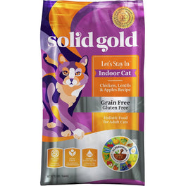 Solid Gold Let's Stay In Indoor Cat Chicken, Lentils & Apples Dry Cat Food