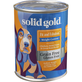 Solid Gold Fit & Fabulous Weight Control Chicken, Sweet Potatoes & Green Beans Canned Dog Food 13.2oz
