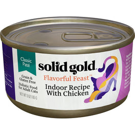 Solid Gold Flavorful Feast Indoor Recipe With Chicken Grain Free Canned Cat Food 3oz