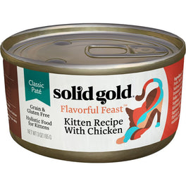 Solid Gold Flavorful Feast Kitten Recipe With Chicken Canned Cat Food 3oz
