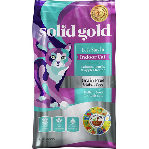 Solid Gold Let's Stay In Indoor Cat Salmon, Lentils & Apples Dry Cat Food
