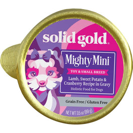 Solid Gold Mighty Mini Lamb, Sweet Potato & Cranberry Cup Tray Dog Food 99g