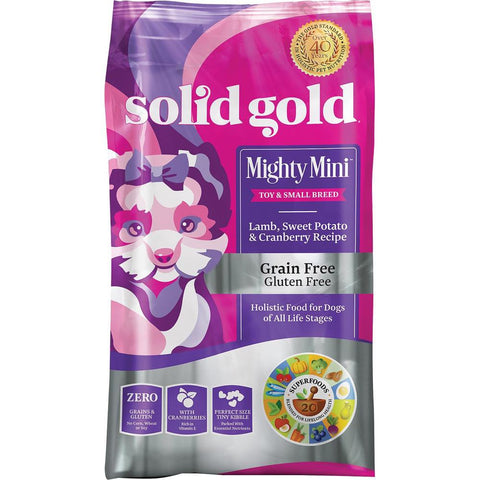 Solid Gold Mighty Mini Lamb, Sweet Potato & Cranberry Grain Free Dry Dog Food