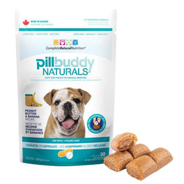 Pill Buddy Naturals Peanut Butter & Banana Dog Treats 5.29oz