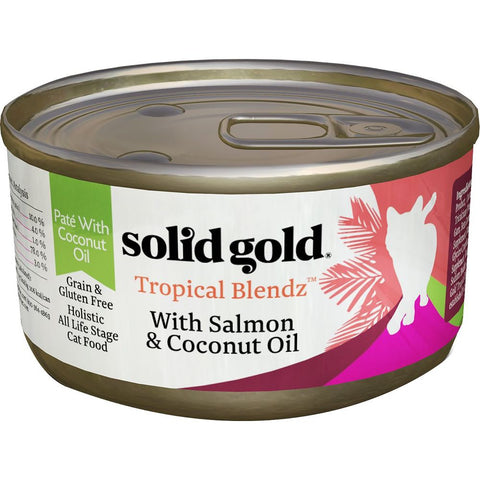 Solid Gold Tropical Blendz Salmon & Coconut Oil Canned Cat Food 170g