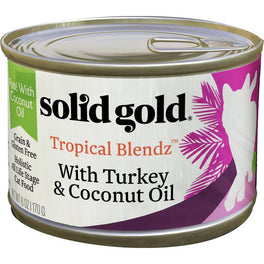 Solid Gold Tropical Blendz With Turkey & Coconut Oil Canned Cat Food 3oz