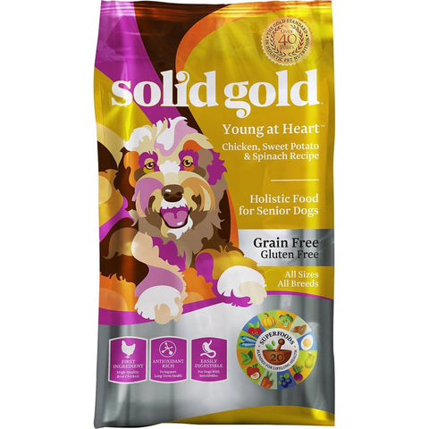 Solid Gold Young At Heart Chicken, Sweet Potato & Spinach Senior Dry Dog Food - Kohepets