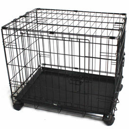 Simply Mansion Dog Cage With Wheels
