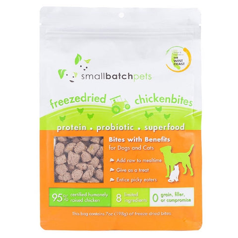 37% OFF: Smallbatch Freeze Dried Chicken Bites Cat & Dog Treats 7oz