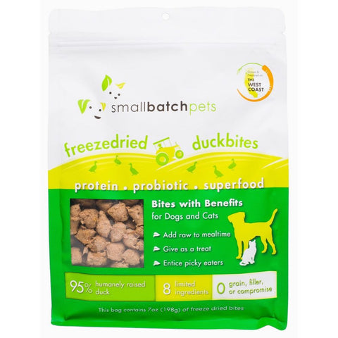 Smallbatch Freeze Dried Duck Bites Cat & Dog Treats 7oz